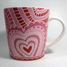 Starbucks Pink Paper Heart Mug 16 fl oz Love Valentine's Day 2005