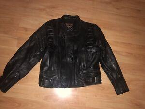 "SKINTAN VINTAGE LEATHER MOTORCYCLE JACKET-CHEST 38/40"""