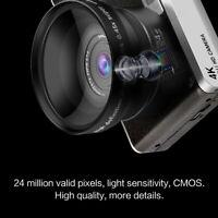 Pro 12X Optical Zoom 1080P HD IPS Digital SLR 24MP Camera Video Recorder Tool