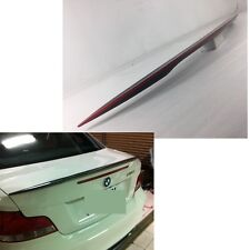 Carbon + RED 2D Coupe FOR BMW 1-Series E82 P TYPE Trunk Spoiler 128i 135i 3.0l