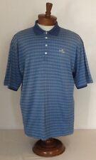 Byron Nelson Eleven Straight VTG Bay Hill Blue Geometric Golf Shirt Sz XL