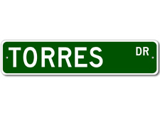 TORRES Street Sign - Personalized Last Name Sign