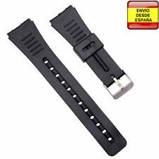 17ada5349939 Correa resina negra relojes 18mm Casio AQ28W F84W F88W W48 AQ51 AQ48 L18
