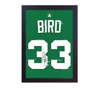 Larry Bird Boston Celtic NBA signed print CANVAS 100% cotton Framed