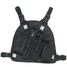 ABBREE Harness Chest Front Pack Pouch Holster Carry Bag for Baofeng TYT Motorola
