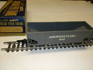 C-6 S scale American Flyer AF hopper #640 with box gray freight car VGC #35