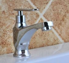 Chrome Bathroom Faucet One Way Cold Water Tap A91