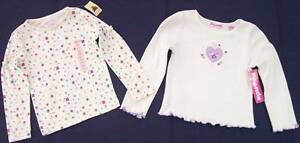 NWT Lot of 2 Girl's LS Knit Tops, Gap & Just Friends, Floral & Heart, 4, $27.50