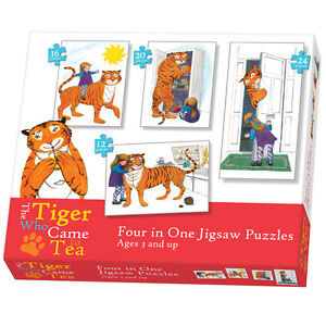 Tiger Came To Tea 4 In A Box 12/16/20/24 Piece Jigsaw Puzzle