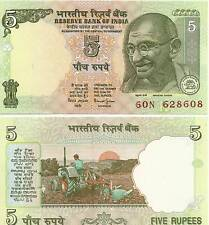 India 5 Rupees Uncirculated Note