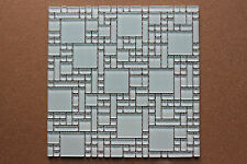 Crystal glass mosaic tiles - Kitchen splash back/Bathroom feature walls - White