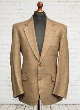 **Sale** Greenwoods Wool Tweed Blazer Beige Check 40R