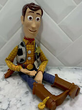 """Toy Story Talking Woody Action Figure 16"""" Tall Works Disney Pixar Thinkway Toys"""