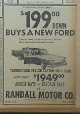1959 newspaper ad for Ford - Thunderbird styled Custom 300 2-door