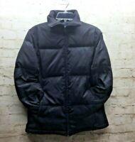Gap Women's Medium Black Down Puffer Zip Up Jacket  EUC