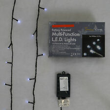Super-Long 10m Battery Powered Multi-Function 100 LED Ice White Lights