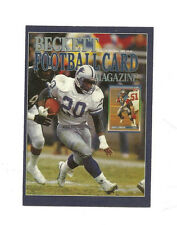Beckett Grading 2014 Football Book Card Barry Sanders Numbered #d 127/500 Ltd Ed