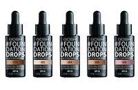 GOSH Foundation Drops Medium Coverage Argan Oil Vitamin E with SPF 10 Hydrate