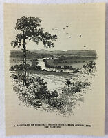 1887 magazine engraving ~ FRENCH BROAD River from Connelley's ~ North Carolina
