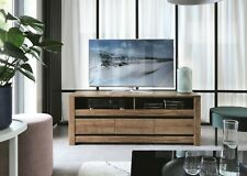 Classic Media TV Table Entertainment Stand Storage Cabinet Unit Oak Grey Kada