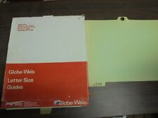 (25) Globe-Weis Letter Size Guides # 95P21 Pressboard with eyelet A-Z Files