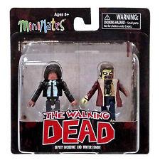 Minimates Walking Dead Series 6 Deputy Michonne Winter Zombie Figure Set NEW Toy