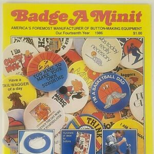 Badge A Minit Button Making Equipment Catalog 1986 Order Form Designs Ideas Zine