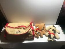 Pound Puppies Newborns 1985 & Kennel Carrying Case Tonka Used Adorable
