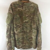 US Army Military Camo Combat Jacket Zip up Shirt Uniform M Medium Long