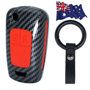 For Holden Barina Cruze Trax Colorado Key Case Cover Shell Keyring Carbon Fiber