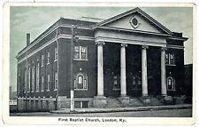 London Kentucky KY -FIRST BAPTIST CHURCH- Postcard