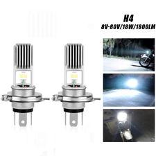 2X H4 9003 HB2 LED Motorcycle Headlight Bulb Hi/Lo Beam Super Bright White 8-80V