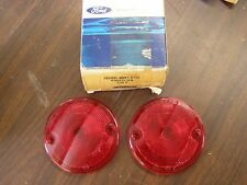 NOS OEM Ford 1957 - 1963 Truck Pickup Tail Light Lamp Lenses 1958 1959 1960 1961