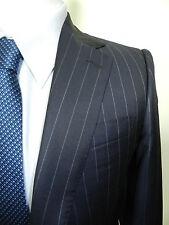 Lutwyche Sartorial Navy Stripe Wool Business Suit 38R  $4250+