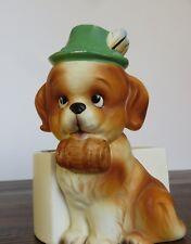 Vintage Lefton St. Saint Bernard Dog Planter H7714