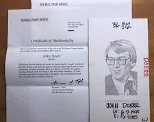John Doerr Partner Kleiner Perkins Wall Street Journal Hedcut News Original Art