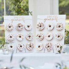 2x Ginger Ray Donut Doughnut Wedding Party Candy Sweet Cart Favour - BR-352