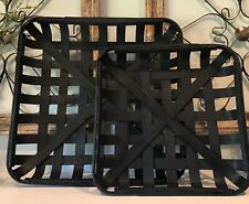 Black TOBACCO BASKET ~Small Basket Only~ Farmhouse Chic Decor!