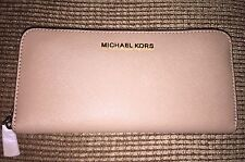 NEW! NWT MICHAEL KORS Jet Set Travel Continental Saffiano Leather Wallet Camel