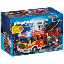 Playmobil Bomberos Con Sonido Y Luces-ciudad 5363