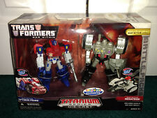 """Optimus Prime Megatron 2-Pack Toys""""R""""Us Transformers Titanium TRU 2006 MISP!!"""