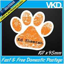 Ed Sheeran Paw Sticker/ Decal -  Tickets Vinyl Laptop Guitar Cool Retro UK CD X