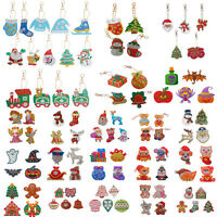Christmas 5D DIY Full Diamond Painting Key Chains Keyring Handmade Keychain