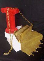 1910 Antique 18K Yellow Gold Mesh Diamond Purse Evening Handbag Cabochon 136.4g