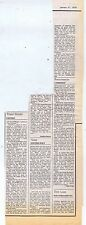 GONG / PROCOL HARUM / RENAISSANCE press clipping 1976 15x40cm (31/1/76)