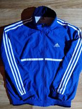 Adidas 90's Vintage Mens Tracksuit Top Jacket Blue White Stripes