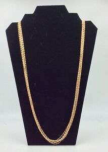 """Bellezza Multi-Strand KA1772 Necklace, 36"""", Yellow Gold Plated, New."""