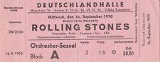 Rolling Stones, concerto ticket, Berlino Germania Halle, ticket, dal 16.09.1970