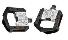 "WELLGO Folding Bike Aluminium Cycle Pedals 9/16"" Pedal Thread 2 DU Bearings"