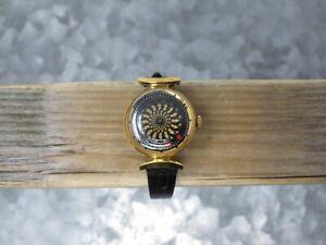 Ernest Borel Womens Vintage Kaleidoscope Cocktail 17 Jewel Manual Wrist Watch
